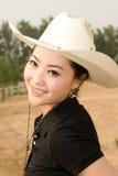 Asain girl. A pretty asain girl in a farm Stock Photos