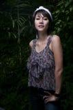 Asain girl portrait. An asian girl portrait in garden Royalty Free Stock Photo