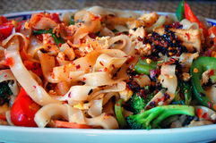 Asain Noodle Dish. An asian noodle dish at a Thai restaurant Stock Image