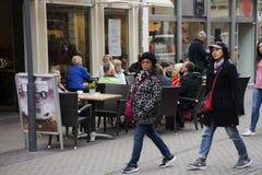 Asain thai women mother and daughter walking travel heidelberger. Market square or marktplatz and go to Heidelberg Castle on September 8, 2017 in Heidelberg Royalty Free Stock Photography