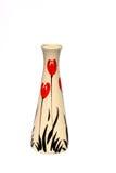Asain Vase auf Weiß Lizenzfreies Stockfoto