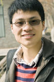 Asain young man. With dark glasses Stock Photo