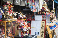 Asakura - Japan, am 18. Februar 2016:: Antiker Puppenjapanerschweinestall Lizenzfreies Stockfoto