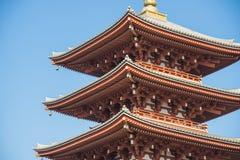 Asakura - Japan, am 18. Februar 2016:: rote Pagode des fünften Stocks an Stockbilder