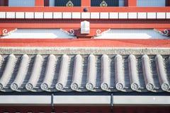 Asakura - Japan, 18 Februari 2016:: Een deel van de bouw in Sensoj Royalty-vrije Stock Afbeeldingen