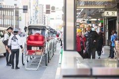 Asakura - Japan , 18 February 2016 :: rickshaw service at Asakus Royalty Free Stock Photography