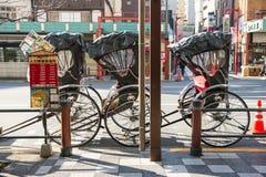 Asakura - Japan , 18 February 2016 :: rickshaw service at Asakus Royalty Free Stock Images