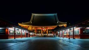 1618年asakusa佛教被编译的日本寺庙东京 免版税库存图片