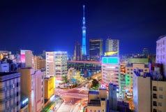 东京都市风景 免版税库存图片