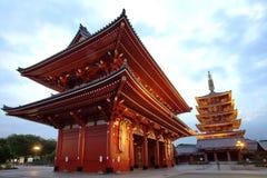 Asakusa świątynia przy Tokio Japonia Obrazy Royalty Free
