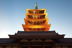 Asakusa świątynia przy Tokio Japonia Fotografia Royalty Free