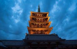 Asakusa świątynia w Tokio, Japonia zdjęcie stock