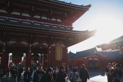 Asakusa świątynia w Tokio Japonia fotografia royalty free