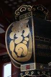 Asakusa. Black lantern at the temple in Asakusa, Tokyo Stock Photos