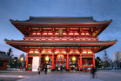 asakusa bramy Japan ji senso świątynia Tokyo Obrazy Stock