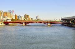 Asakusa bridge. The asakusa bridge or Asakusa bashi is the bridge of the famous district in Tokyo Japan, which Sensoji is located in. The bridge crosses the Stock Photos
