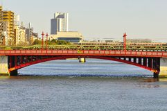 Asakusa bridge. The asakusa bridge or Asakusa bashi is the bridge of the famous district in Tokyo Japan, which Sensoji is located in. The bridge crosses the Stock Image