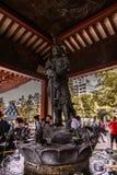 Asakusa bushi warrior guardian of the temple royalty free stock images
