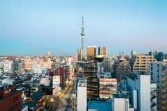 Asakusa horisont, Tokyo - Japan Fotografering för Bildbyråer