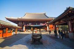 Asakusa - Japan, 20 Februari, 2016: Het symbool van de Sensojitempel van Royalty-vrije Stock Fotografie