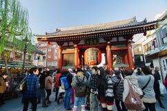 ASAKUSA, JAPAN- NOV 21, 2013: Sensoji temple. The temple is appr Royalty Free Stock Image