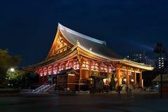 Asakusa Kannon eller den Sensoji templet i Tokyo, Japan Arkivbilder