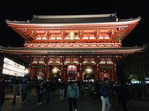 Asakusa Kannon tempel royaltyfri foto