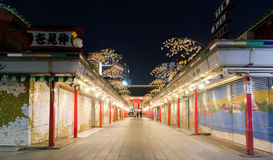 Asakusa Nakamise Shopping Street Night View Royalty Free Stock Photo