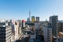 Asakusa område i Tokyo Royaltyfria Foton