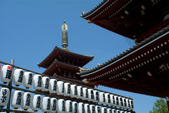 Asakusa Senso Buddhist temple, Tokyo, Japan Royalty Free Stock Images