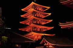 Asakusa Sensoji Pagoda in Tokyo Japan Stock Image