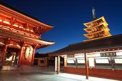 Asakusa tempel på Tokyo Japan Arkivfoton
