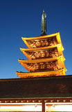 Asakusa tempel på Tokyo Japan Arkivfoto