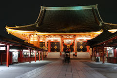 Asakusa Temple by night Royalty Free Stock Image