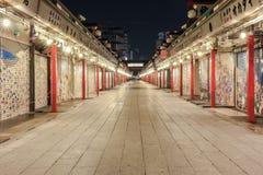 Asakusa. Temple in the night Stock Image