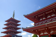 Asakusa Temple. The Asakusa temple with the pagoda at daytime in Tokyo Stock Image