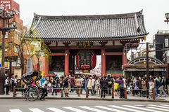 Asakusa temple the public temple inner Tokyo,Japan. Royalty Free Stock Photos
