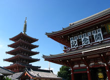 Asakusa temple in tokyo Royalty Free Stock Images