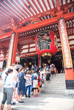 ASAKUSA TEMPLE TOKYO JAPAN. AUGUST 8 2015 :ASAKUSA TEMPLE TOKYO JAPAN,  A mand believe that Incense smoke will help good luck and  good fortune Royalty Free Stock Images