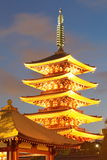 Asakusa  temple at Tokyo Japan. Senso-ji Temple (also known as Asakusa Kannon) is the most important of Tokyos buddhist temples Royalty Free Stock Photography