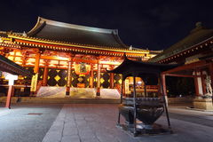 Asakusa  temple at Tokyo Japan. Senso-ji Temple (also known as Asakusa Kannon) is the most important of Tokyos buddhist temples Royalty Free Stock Photo