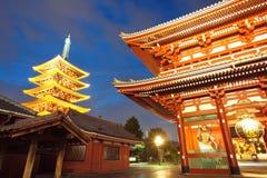 Asakusa  temple at Tokyo Japan Royalty Free Stock Image