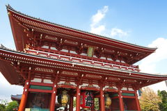 Asakusa  temple at Tokyo Japan. Senso-ji Temple (also known as Asakusa Kannon) is the most important of Tokyos buddhist temples Stock Images