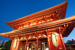 Asakusa  temple at Tokyo Japan. Senso-ji Temple (also known as Asakusa Kannon) is the most important of Tokyos buddhist temples Stock Image