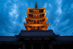 The Asakusa temple in Tokyo, Japan. View of the Asakusa temple in Tokyo, Japan Stock Images