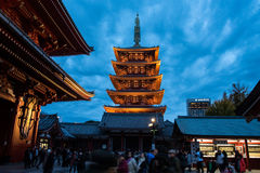 The Asakusa temple in Tokyo, Japan. View of the Asakusa temple in Tokyo, Japan Stock Photography