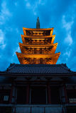 The Asakusa temple in Tokyo, Japan. View of the Asakusa temple in Tokyo, Japan Royalty Free Stock Photos