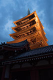 The Asakusa temple in Tokyo, Japan. View of the Asakusa temple in Tokyo, Japan Royalty Free Stock Image