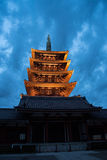 The Asakusa temple in Tokyo, Japan. View of the Asakusa temple in Tokyo, Japan Royalty Free Stock Images
