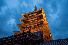The Asakusa temple in Tokyo, Japan. View of the Asakusa temple in Tokyo, Japan Stock Photos